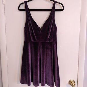 Urban Outfitters velvet purple skater dress